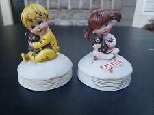 "Vintage (1974) Porcelain Figurine Music Players (Gorham Fran Mar ""Moppets"""