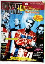 PSYCHO metal magazine 1999 Machine Head Wasp Kreator Italy no cd