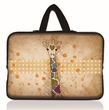 """15"""" Giraffe Laptop Sleeve Carry Bag Case Fr 15.6"""" Acer HP Dell Sony ASUS Toshiba"""
