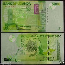 Uganda Paper Money 5000 Shillings 2010 UNC