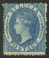 St Lucia  1860  Scott #2    USED