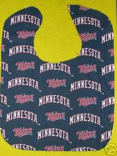 MINNESOTA TWINS PERSONALIZED BABY BIB BIBS Large Terry + Cotton Embroidered Name