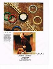 PUBLICITE ADVERTISING  1987   GUCCI collection montres