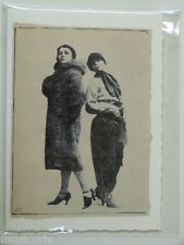 handmade greetings / birthday card FEMALE TANGO DANCERS , gay interest 1928
