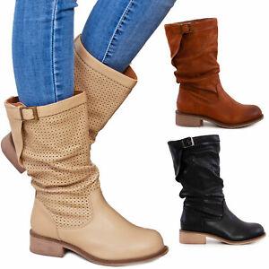 Scarpe donna stivali estivi traforati  primaverili tacco comodo TOOCOOL G519