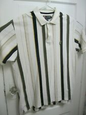 Vintage Chaps Ralph Lauren Striped Men's Polo Shirt Size XL Short Sleeve