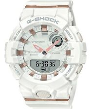 NEW GSHOCK GMAB800-7A S SERIES ANA-DIGITAL WHITE / ROSE STEP TRACKER WATCH