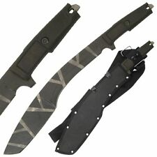 Outdoor Jungle Terrain Military Kukri Tanto Machete Camo Blade