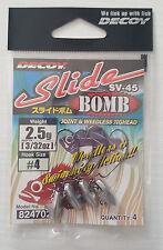 Testina Piombata Jighead Decoy Slide Bomb SV-45 Amo 4 - 2.5gr - 3/32 oz.