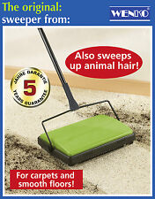 Wenko Lightweight Green Carpet Hard Floor Tile Sweeper Animal Pet Cat Dog Hair