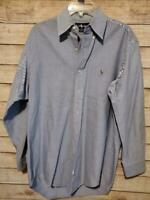 Ralph Lauren Polo Men's Blue Yarmouth Button Down Dress Shirt Size 15-32/33