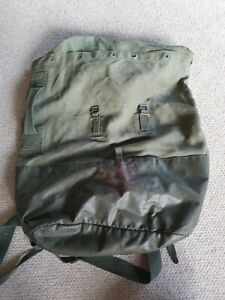 French Military Army Olive Green Drab Ucksack Back Pack Vintage Old