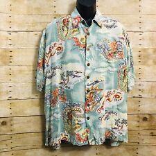 Jimmy Buffet 2001 A Beach Odyssey Concert Tour Hawaiian Shirt Size XL Giant