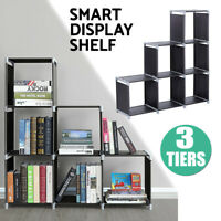 3 Tier Storage Organizer Closet 6 Cube Cabinet Clothes Modular Bookcase Shelf