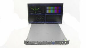 Harris Videotek VTM-4100 PKG Waveform Vector Monitor Opt 10 SD/HD A3-OPT-2 ACV-2