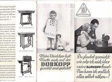 Prospekt Dürkopp Nähmaschine um 1935 !(D