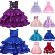 Vestido De Flores Niña Bebé Niños Fiesta Boda Dama De Honor Formal Tutú Vestidos