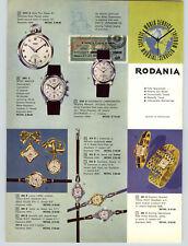 1957 PAPER AD 4 PG Rodania Swiss Wrist Watch Discomatic Chronograph Sport Master