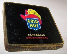 GOLDHUT vintage tin Zigarettendose für 20 Zigaretten RHENANIA