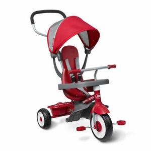 Radio Flyer 4-in-1 Stroll 'N Trike Tricycle - Red Open Box