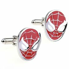 Spiderman Cufflinks Mens Business Shirt Sleeve Cuff Link Work - In Gift Box!