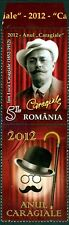 2012 CARAGIALE,Playwright,Bowler hat,Walking stick,Theatre,Romania,6595,TAB/B,NH