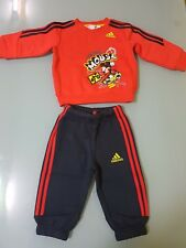 fdc40125943431 Completo Tuta Felpa+Pantalone ADIDAS DISNEY MICKEY MOUSE TOPO Bimbo TG 3-6  Mesi