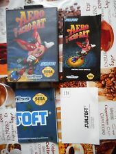 EMPTY BOX BOOKLET POSTER CARD ONLY genuine Aero the Acrobat Megadrive Genesis
