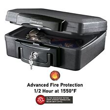 Fire proof Waterproof Security Safe Box Home Office Portable Lock Money Document