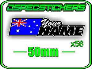 NAME STICKER SHEET CUSTOM 1/8 1/10 RC CAR BUGGY NITRO ELECTRIC LAMINATED STYLE 2