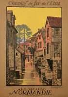 Original French Vintage Travel Poster - Geo Dorival - Normandy France - 1913