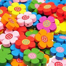 70PCs HOT SALE Wooden Loose BEADS Charm Mixed 19.4mm x19.6mm New