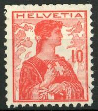 "SWITZERLAND - SVIZZERA - 1909 - ""Helvetia"". Nuovo tipo - 10 cent. rosso"