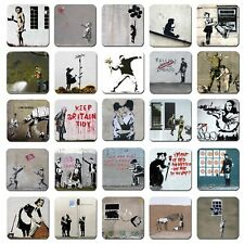 Banksy Art single coaster or set of 4 Mug Coffee Tea Wine Gift Choice of 25