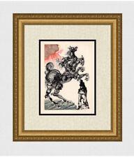 1960 Salvador Dali ORIGINAL Divine Comedy Woodcut Powerful Cerberus FRAMED COA