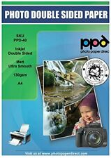 PPD Inkjet Double Sided Ultra Smooth Brochure and Flyer Paper A4 x 100 sheets PP