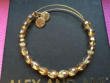 NEW ALEX and ANI Retro Glam MELLOW AMBER SERENITY Beaded GOLD Bangle BRACELET