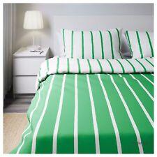IKEA TUVBRACKA King Size Duvet/quilt Cover 4 P/cases Green/white