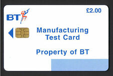 BT £2 Manufacturing Test Card GPT2  TRL09 1,000  issued. Cat £75 mint.