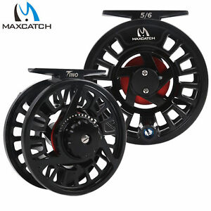 Maxcatch TINO Fly Fishing Reel 5/6 7/8WT Large Arbor Trout Right/Left Handed