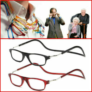 Magnetic Hanging Reading Glasses Unisex Foldable Reading Glasses +1.0 to +3.5