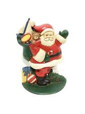 "Vintage/Antique Cast Iron Santa Claus Door Stop w/Toys 10"" x 6.5"""