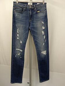 FRAME DENIM L´Homme 5-Pocket Jeans W31 Men Pants Destroyed Used-Look Blau