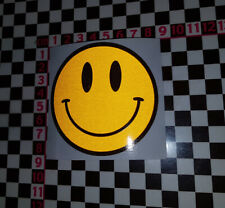 Reflective SMILEY FACE VINYL STICKER  Bay Camper VW Beetle Top Quality - 75mm