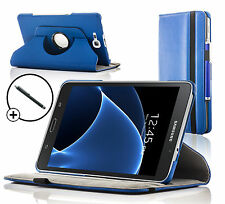 Leather Blue Rotating Smart Case Cover Samsung Galaxy Tab A 7.0 SM-T280 Stylus