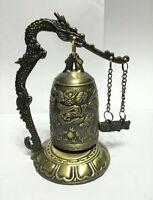Hot Sale Excellent CHINA Tibet Brass Dragon buddha Bell feng shui