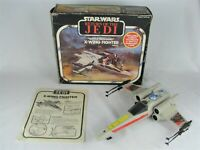 Vintage 81 Star Wars Battle Damaged X-Wing Fighter Lights Sound Box Instructions