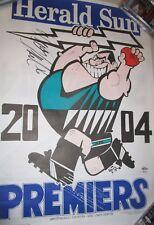 Warren Tredrea (Port Adelaide Premiership Captain) signed 2004 weg poster (#417)