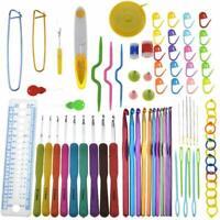 170Ps Häkelnadel Set mit Stricknadeln Zubehöre und Tasche in verschiedenen Größe