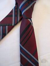 Taylor & Wright Dusty Rot Blau Weiß Criss Cross 2.5 Zoll Polyester Hals binden